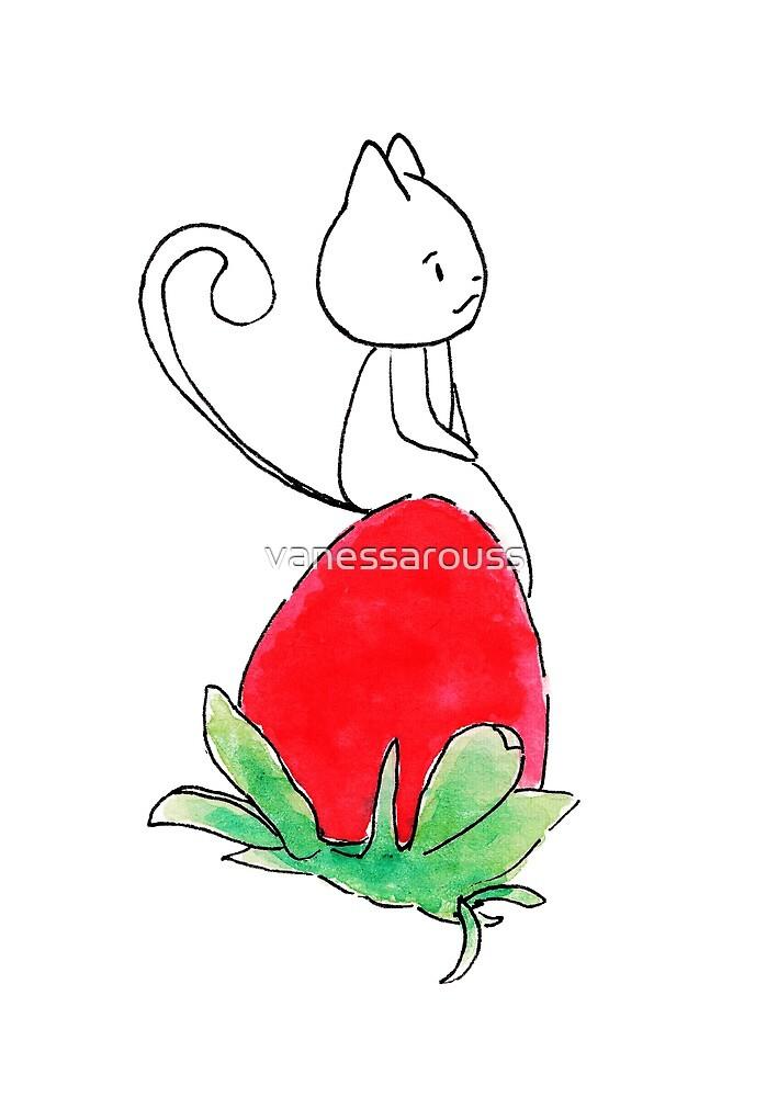 Strawberry cat 3 by vanessarouss