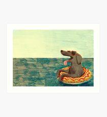 Relaxed Doggo Art Print