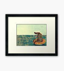 Relaxed Doggo Framed Print