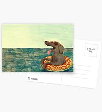 Entspanntes Doggo Postkarten