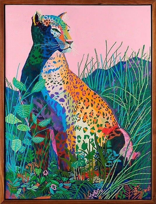 Art Contemporary Leopard cat by lydja