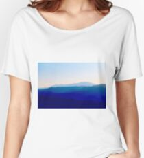 Sunset in Rhodes Shades of Indigo Women's Relaxed Fit T-Shirt