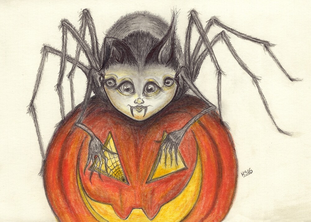 Arachnid with Border Collie Ears by PixlPixi