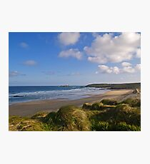 Gwithian Beach in Cornwall Photographic Print