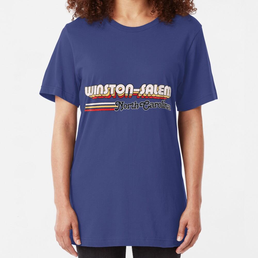 Winston–Salem, NC   City Stripes Slim Fit T-Shirt