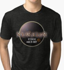 America´s Eclipse 2017 - Wyoming Tri-blend T-Shirt