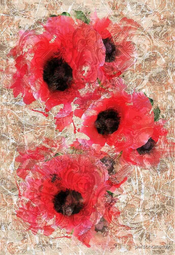 Poppies & Paint by personomeme