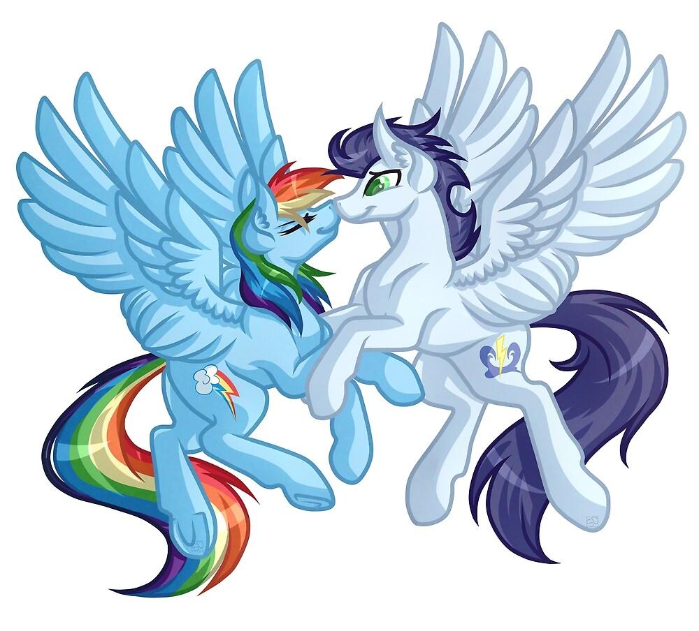 Soarin and Rainbow Dash by GrimdarkGravey