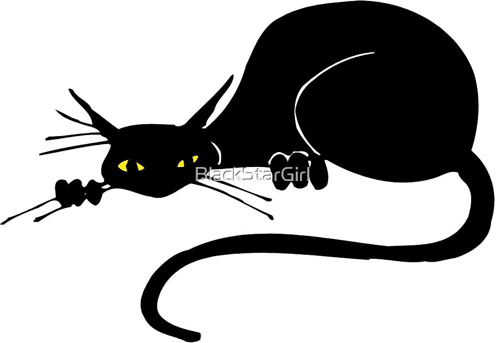 Graceful Black Cat by BlackStarGirl