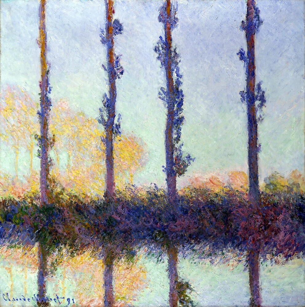 Claude Monet The Four Trees by pdgraphics