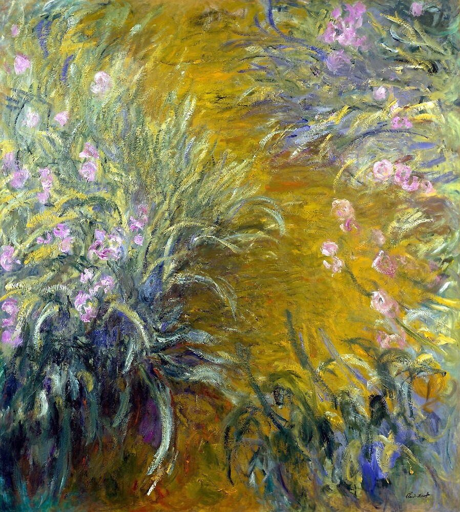 Claude Monet The Path through the Irises by pdgraphics
