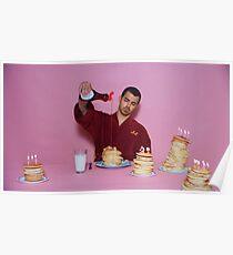 Joe Jonas gießt Sirup über Pfannkuchen Poster