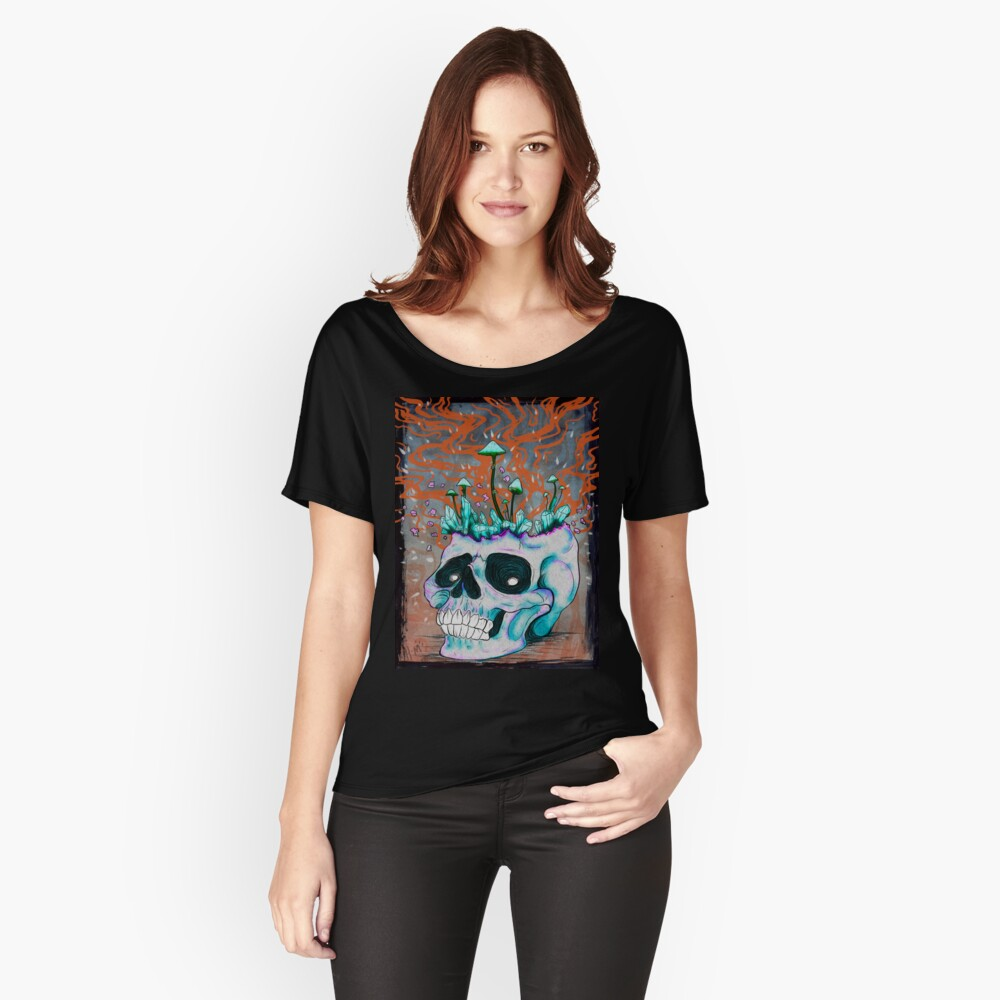 Trippy Skull Women's Relaxed Fit T-Shirt Front
