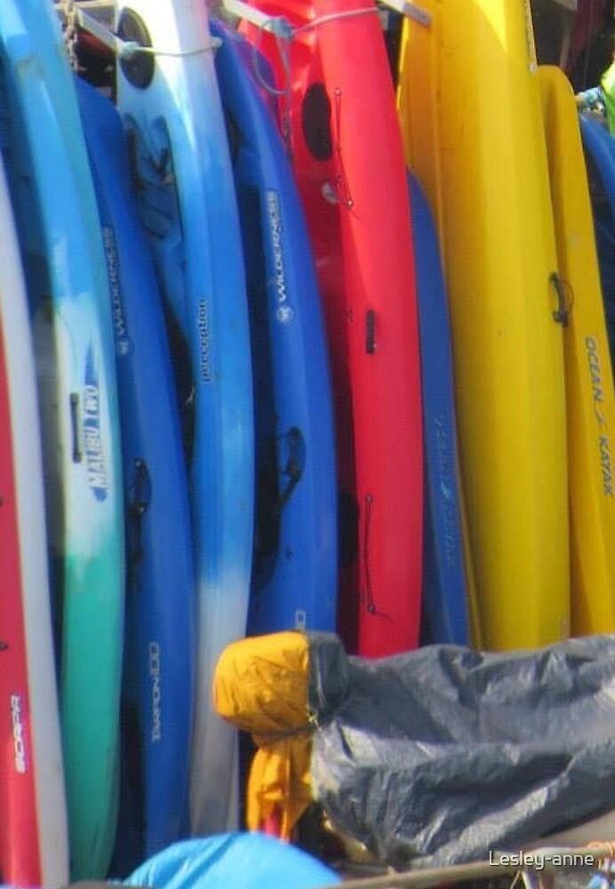 Kayaks by Lesley-anne