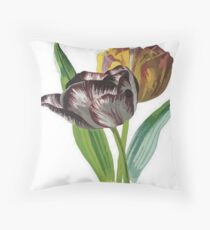 Tulips With Variegated Petals Vector Throw Pillow