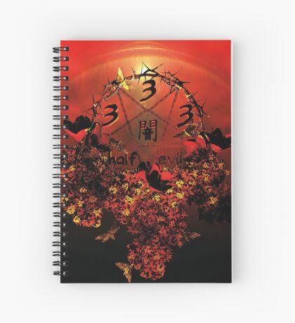 summoning circle pentagram - 333 half evil Spiral Notebook