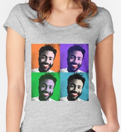 Pop Art Gambino Fitted Scoop T-Shirt
