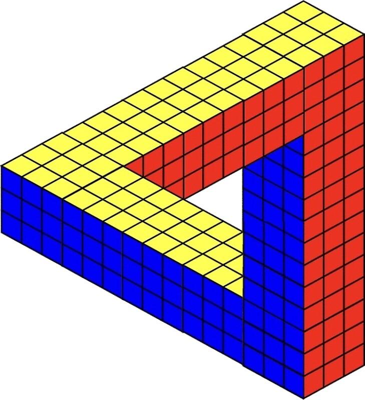 "Penrose Triangle Cubes ""Rubik's Cube Pen..."