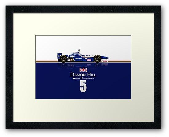 Damon Hill- Williams FW18 by JageOwen