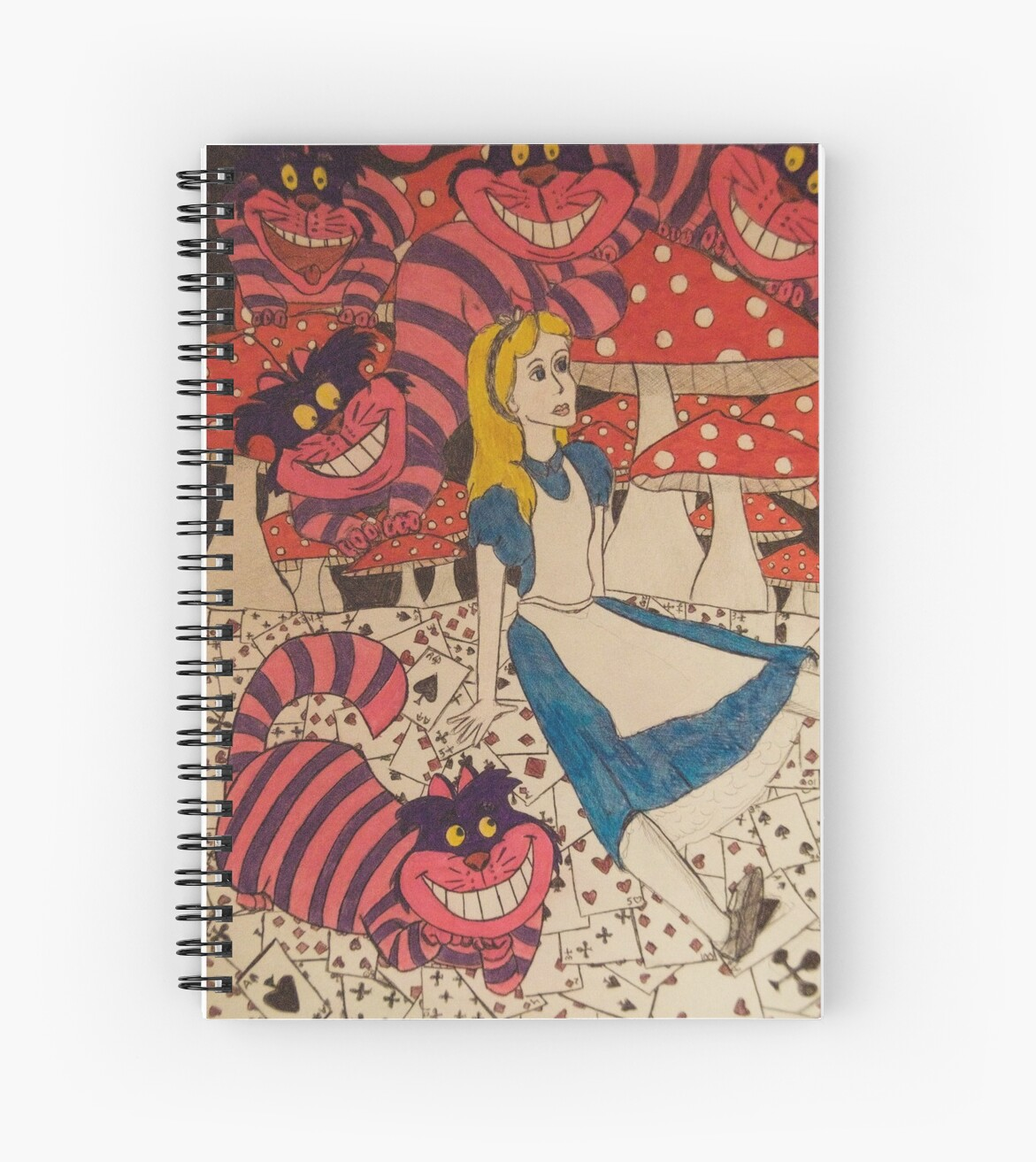 Alice in Wonderland Notebook by Aleksandra Romashko