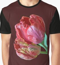 Two Red Tulips Vector  Graphic T-Shirt