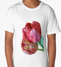 Two Red Tulips Vector  Long T-Shirt
