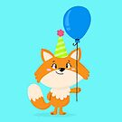 Birthday Fox by ShakeyIllustra