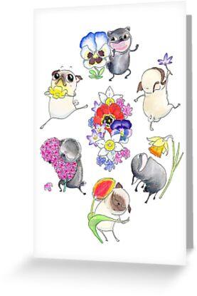 Pugs Primavera by inkpug