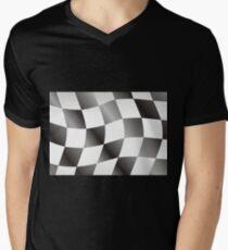 Race Flag Mens V-Neck T-Shirt