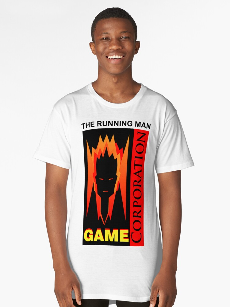 The Running Man by Stephen King Long T-Shirt Front