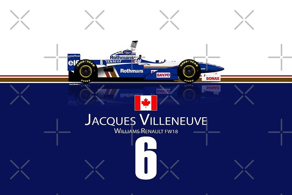 Jacques Villeneuve - Williams FW18 by JageOwen