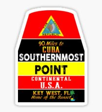 Key West Florida Buoy Sounthernmost Point USA Marker Conch Republic Sticker