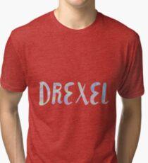 DREXEL iridescent Tri-blend T-Shirt