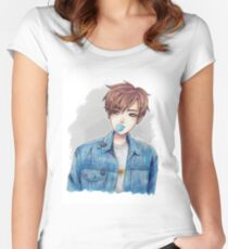 Jungkook | Chewing gum Women's Fitted Scoop T-Shirt