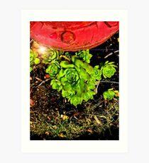Green Crouch Art Print