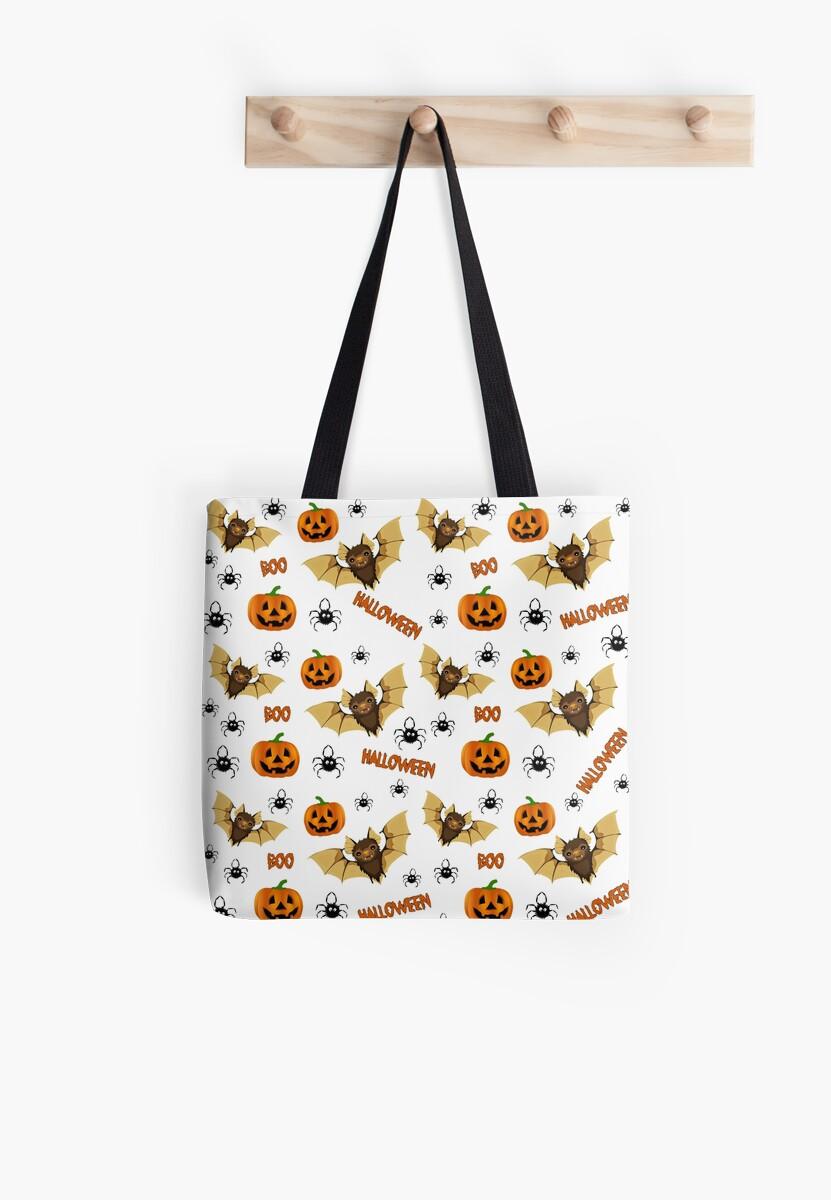 Bat, pumpkin and spider pattern by ValentinaHramov