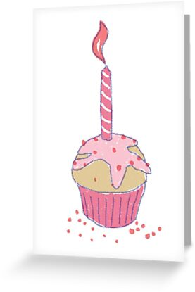 Happy Birthday Card | Muffin with candle by Kai Sternberg
