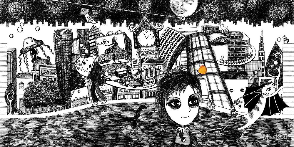 My Weird City (b/w) by MissKoo