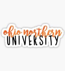 Ohio Northern University Sticker