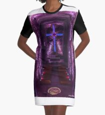 Salt Cathedral in Colombia Graphic T-Shirt Dress