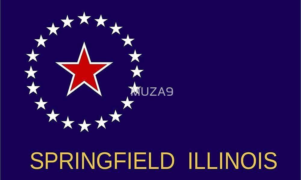 Flag of Springfield, Illinois by MUZA9