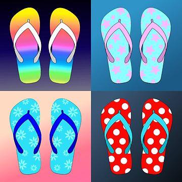 Flip Flop Pop Art  by julieerindesign