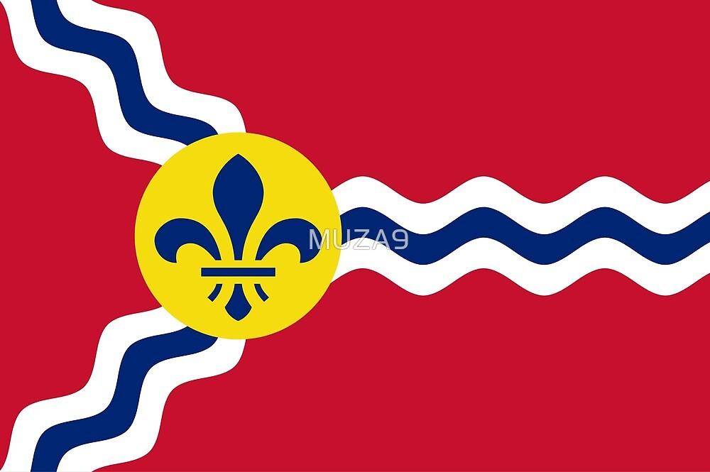 Flag of St. Louis, Missouri by MUZA9