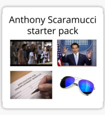 Anthony Scaramucci The Mooch Starter Pack Meme Sticker