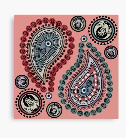 Paisley - Think Dog (Nipple Pink) Canvas Print