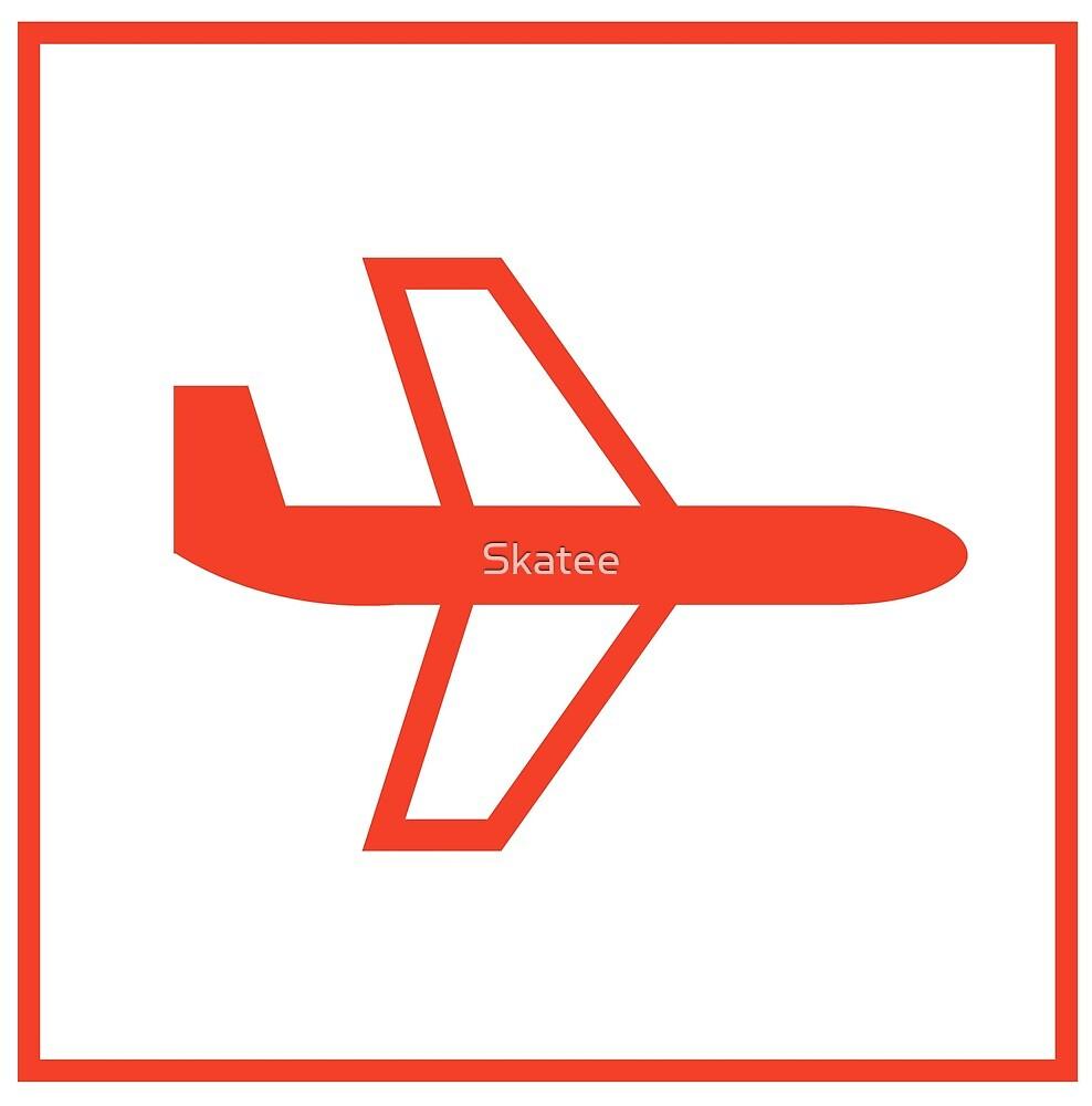Plane logo by Skatee