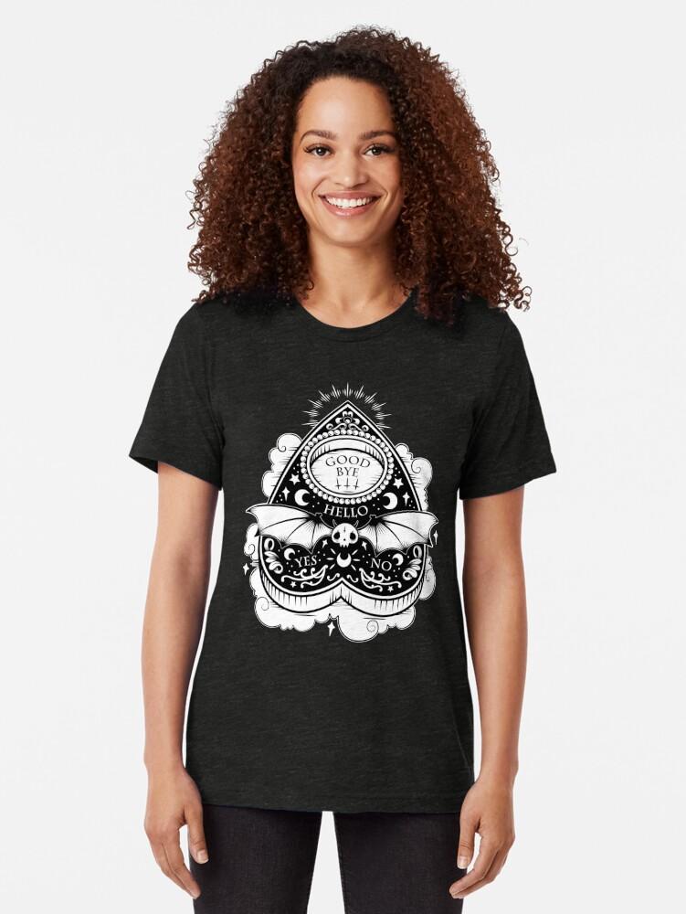 Alternate view of OUIJA Horror Tri-blend T-Shirt
