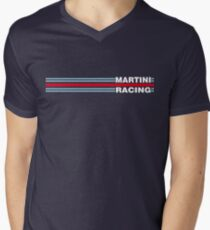 Martini Racing horizontal stripe Men's V-Neck T-Shirt