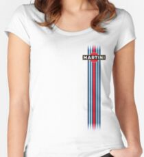 Martini Racing stripe Women's Fitted Scoop T-Shirt