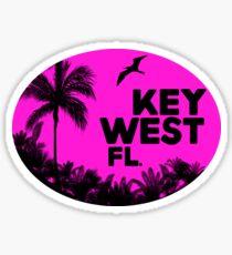 KEY WEST FLORIDA RETRO BEACH OCEAN TRAVEL Sticker
